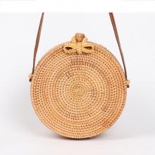 Handmade Round Rattan Cross Body Bag
