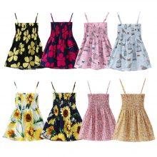 Summer Floral Print Sleeveless Dress 1-7 Years