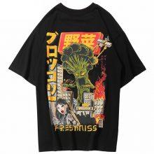 Japanese Harajuku Cartoon Monster Streetwear T-Shirt