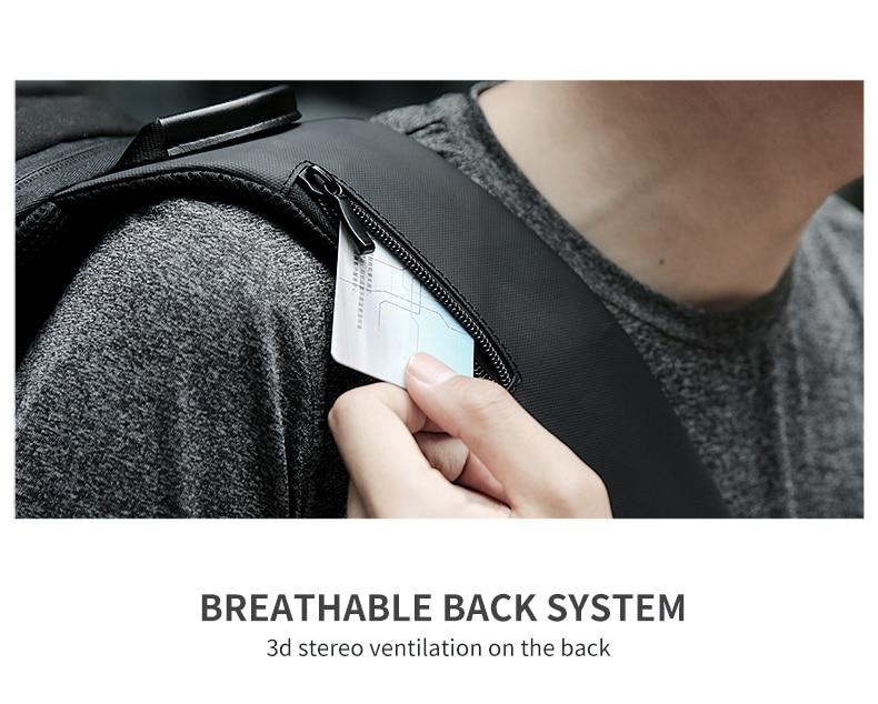 Mark Ryden New Anti-thief Crossbody Bag Waterproof Men Sling Chest Bag Fit 9.7 inch Ipad Fashion Shoulder Bag