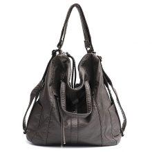 Women Fashion PU Washed Leather Large Backpack Shoulder Bag