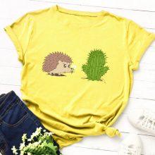 Hedgehog and Cactus T shirt