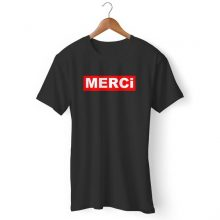 Merci Red Box Logo Man's T-Shirt